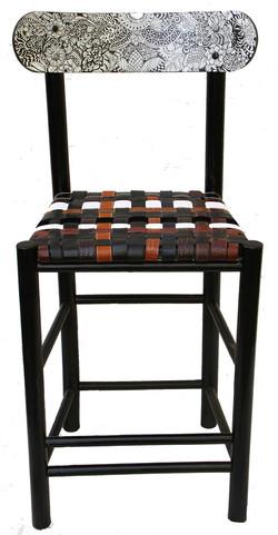 Original artwork and belt chair