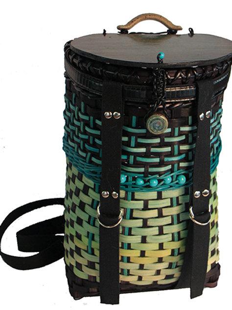 Sea tones and ceramics backpack