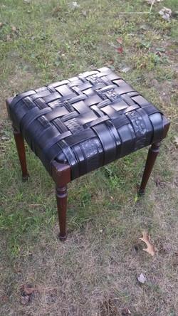 Leather belt stool