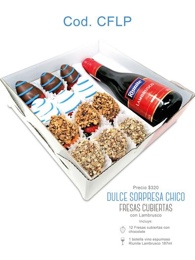 "Dulce Sorpresa Chico ""Fresas Cubiertas"" Lambrusco $320"