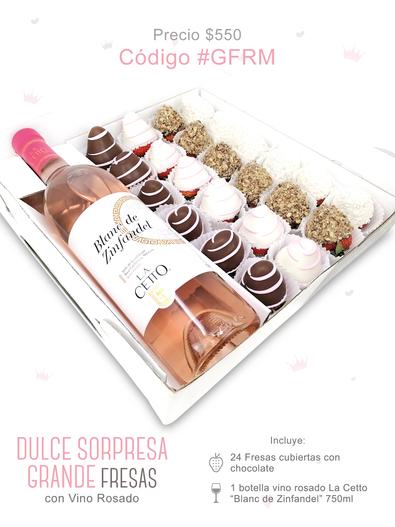 "Dulce Sorpresa Grande Fresas ""Vino Rosado"""