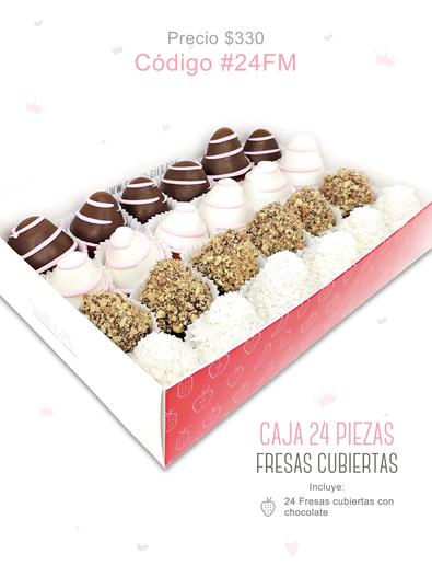 "Caja 24 pzas ""Fresas cubiertas"""
