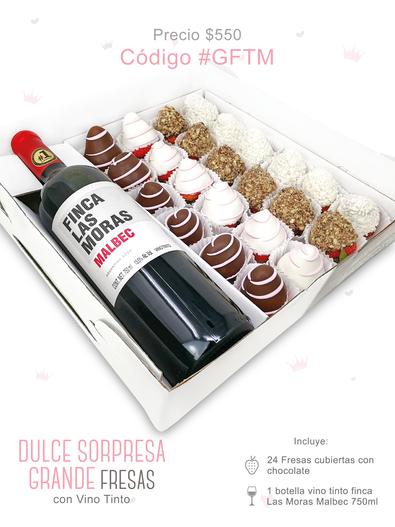 "Dulce Sorpresa Grande Fresas ""Vino Tinto"""