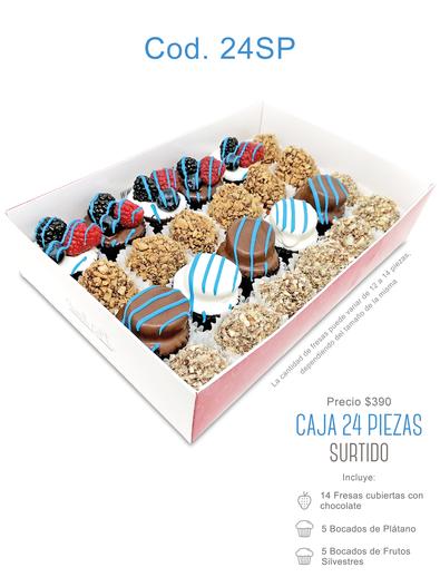 "Caja 24 piezas ""Surtido"" $390"