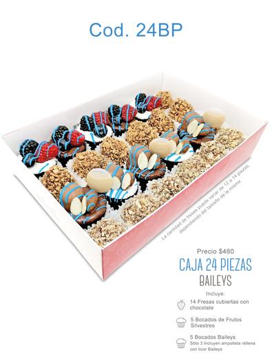 "Caja 24 piezas ""Baileys"" $480"