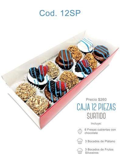 "Caja 12 piezas ""Surtido"" $260"