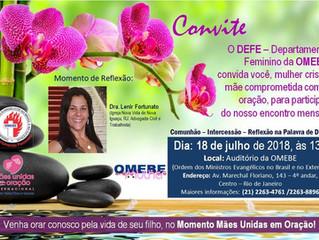 Departamento Feminino da OMEBE convida: