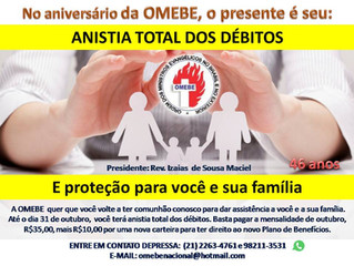 OMEBE CONCEDE ANISTIA TOTAL