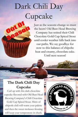 Dark Chili Day Cupcake - Retirement