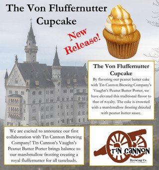New Release - The Von Fluffernutter Cupcake