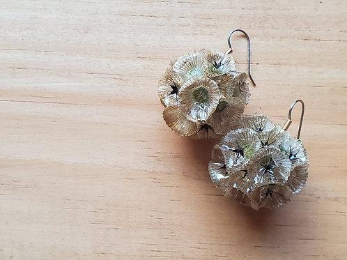 Scabiosa Flower Earrings