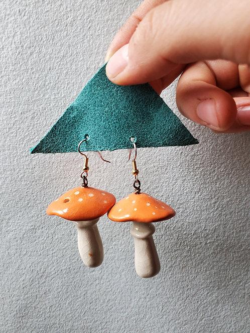 Amanita Mushroom Earrings