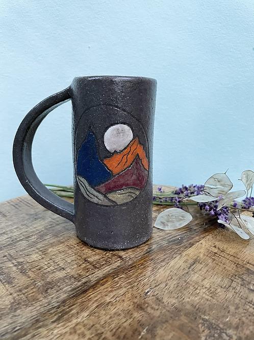 The Hiker's Mug // Sgraffito Landscape