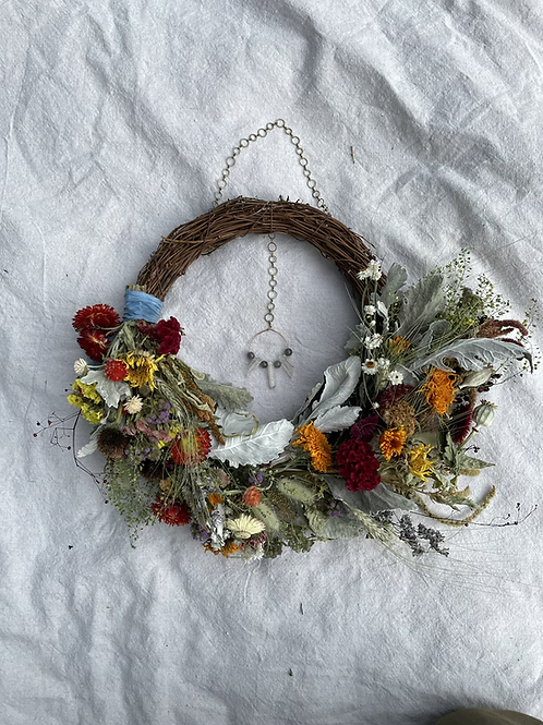 Partial Adorned Wreath // Homegrown Dried Flowers