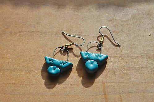 Wander Blue Porcelain Earrings