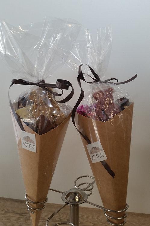 Cornet de Chocolats mélangés aux fruits secs 200 gr AZTEK