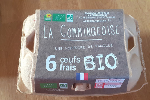 Boite de 6 œufs La Commingeoise