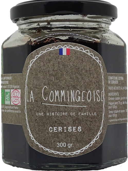 Confiture Cerises -  BIO 300 gr La Commingeoise