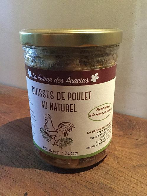 Cuisses de poulet au naturel 750 gr La Ferme des Acacias