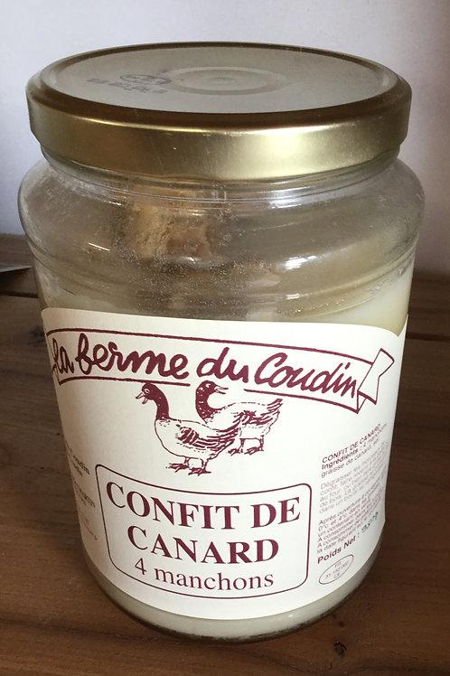 Confit de canard 4 manchons 950 gr La ferme du coudi