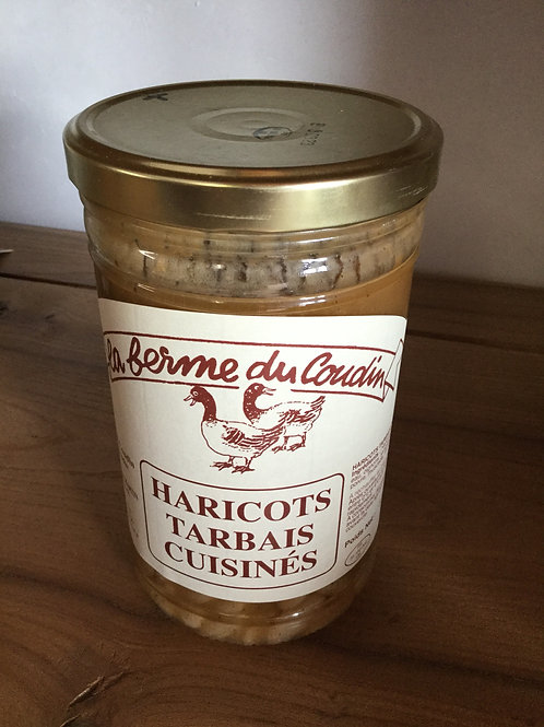 Haricots Tarbais cuisinés bocal 800 gr La Ferme du Coudin