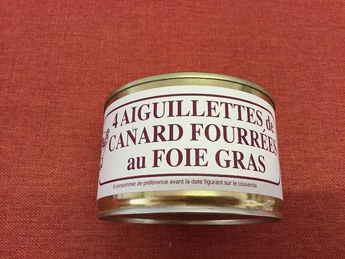 4 Aiguillettes de canard fourrées au foie gras 360 gr La Ferme du Coudin