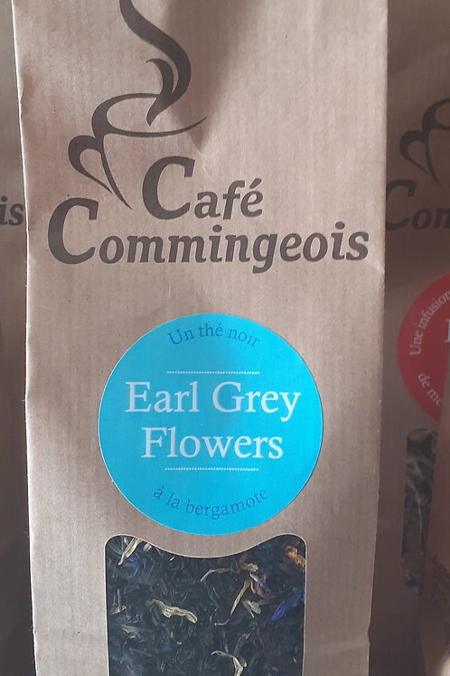 Thé Earl Grey Flowers Café Commingeois