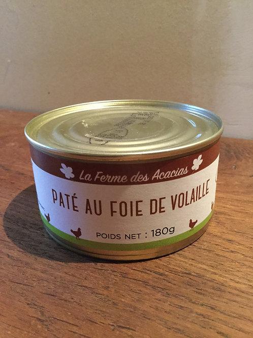 Pâté au foie de volailles 180 gr La Ferme des Acacias