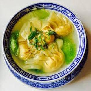 Soupe de raviolis au porc et crevettes Chez May Traiteur Thaïlandais
