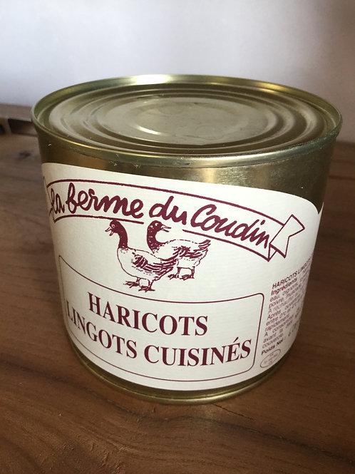 Haricots lingots cuisinés 600 gr