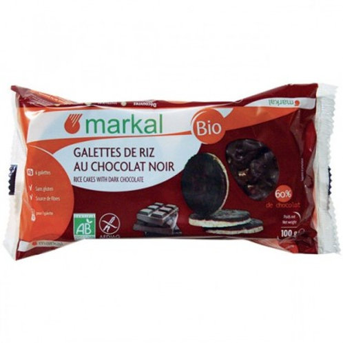 Galettes de Riz Chocolat Noir 100g - MARKAL