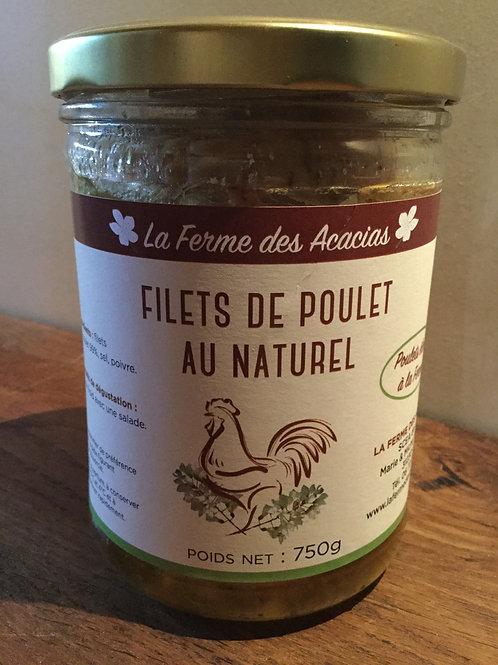 Filets de poulet au naturel 750 gr La Ferme des Accacias
