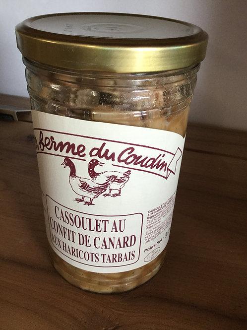 Cassoulet au confit haricots Tarbais cuisinés bocal 950 gr La Ferme du Coudin