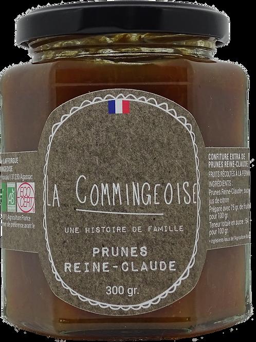 Confiture Prunes - Reine Claude -  BIO 300 gr La Commingeoise