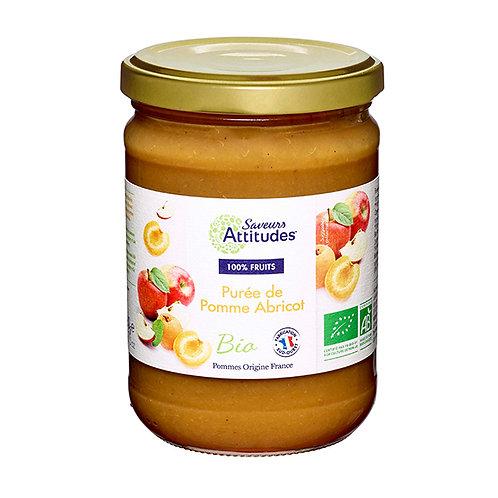 Purée de Pomme abricot Bio Saveurs Attitudes