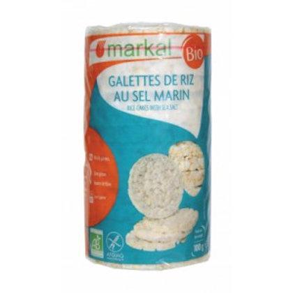 Galettes de riz au sel marin (sans gluten) - 100g - Markal