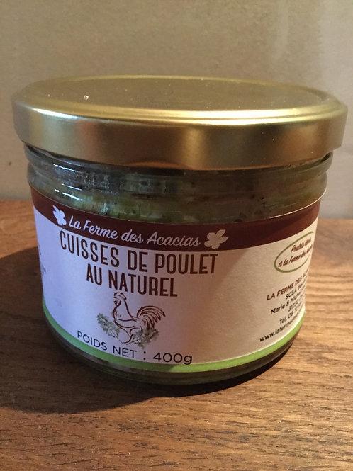 Cuisses de poulet au naturel 400 gr La Ferme des Acacias