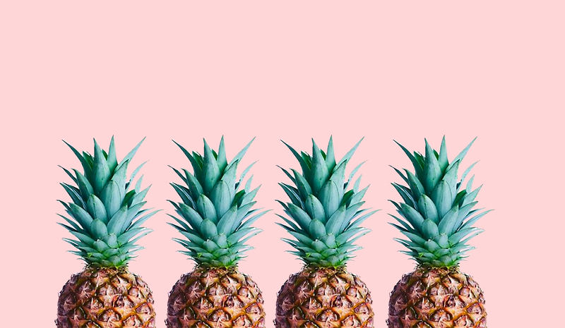 Four pineapples representing the four questions you need to ask your consultant