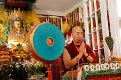 Ven. Lama Konchok Sonam Leads Practice
