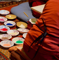 Colored sand for the Sand Mandala