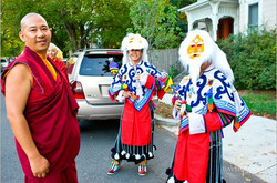Ven. Lama Konchok Sonam with Tibetan dancers