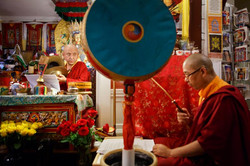 Practice with guest teacher H.E. Tritsab Rinpoche and Lama Sonam
