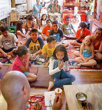 Lama Sonam Teaches Little Bodhi Seeds