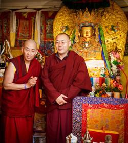 H.E. Khenchen Tsultrim Lodrö Rinpoche and Venerable Lama Konchok Sonam