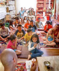 Ven. Lama Konchok Sonam Teaches Sangha Children