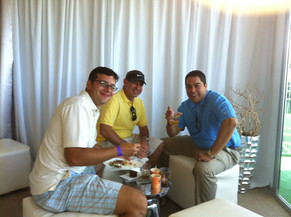 In a PGA Golf Tournament with good friends
