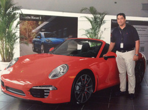 Next to Carrera 4 S Cabriolet a Dream car and Porsche World Roadshow