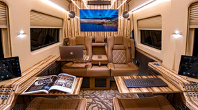 Travel under the radar with JetVan. A luxury mobile office with a Minivan look