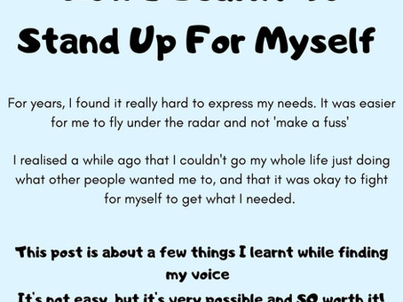 Advocating for myself