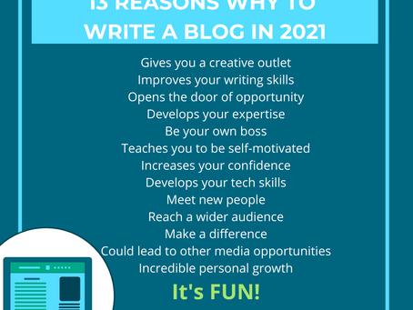 13 reasons to blog